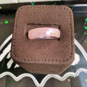 Man made punk jade medium width rings